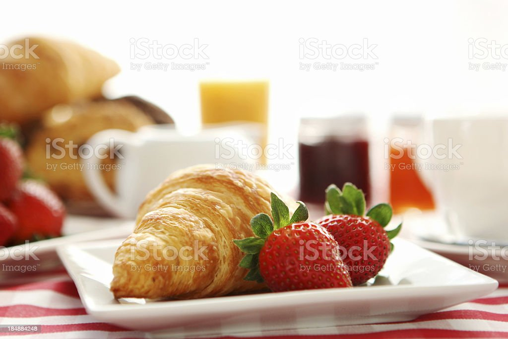 breakfast- croissant and coffee royalty-free stock photo