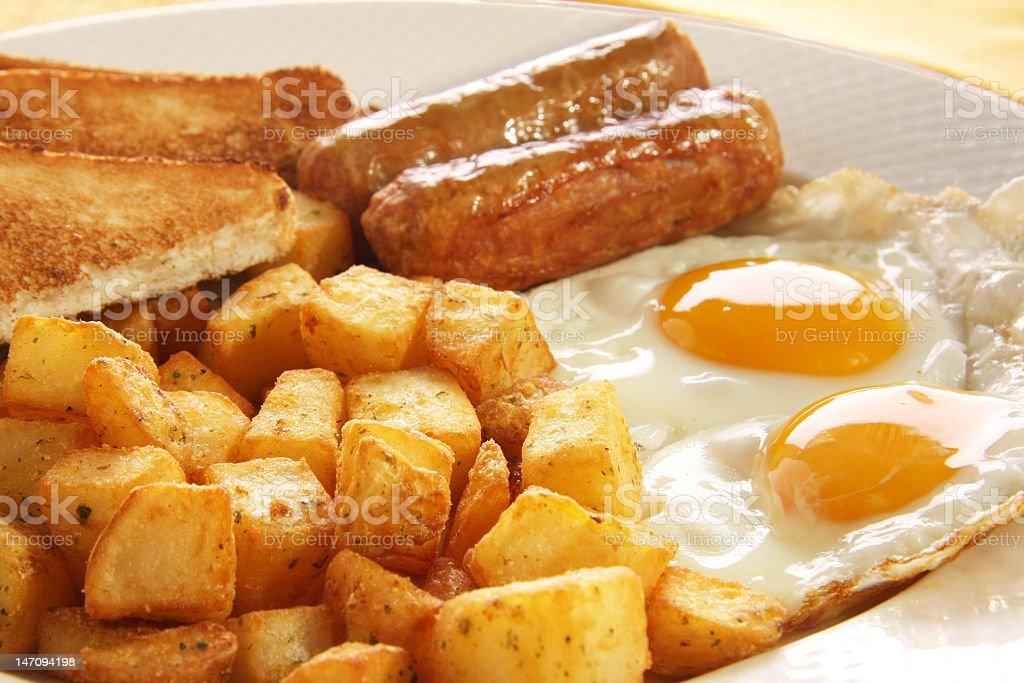 Breakfast eggs stock photo
