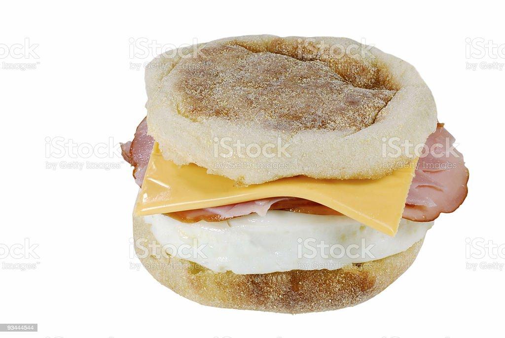 breakfast english muffin sandwich stock photo
