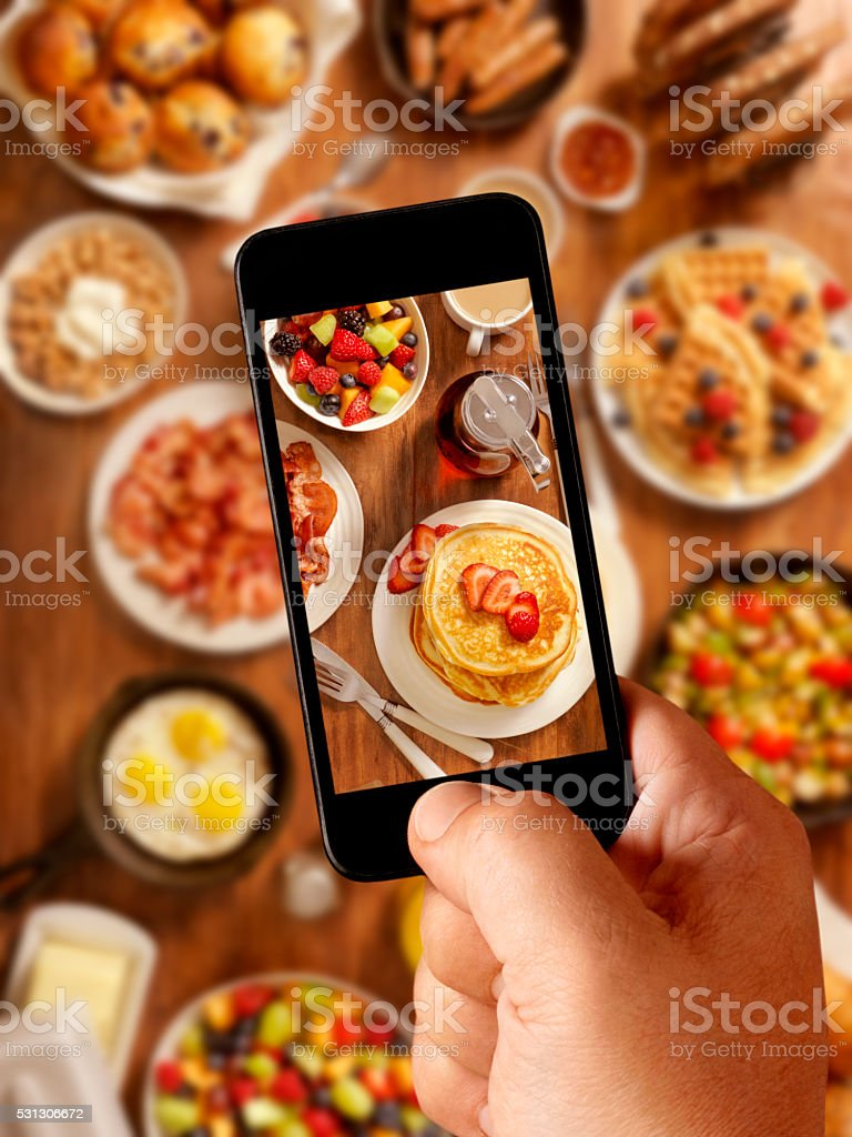 Breakfast Feast, Mobile Photography stock photo