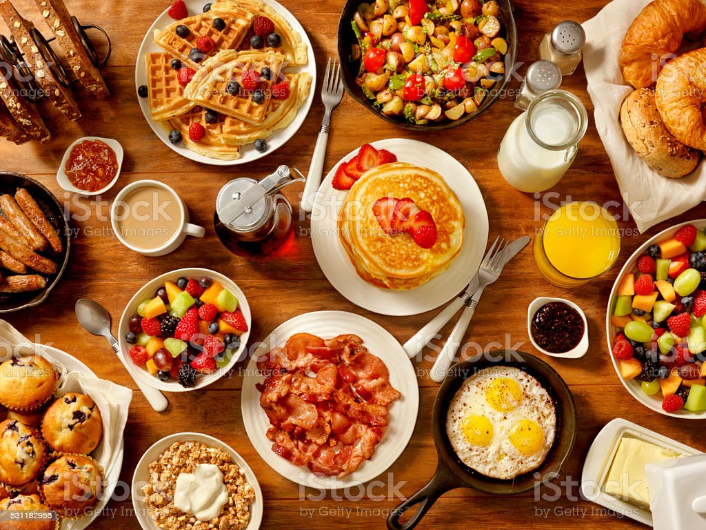 Breakfast Feast stock photo