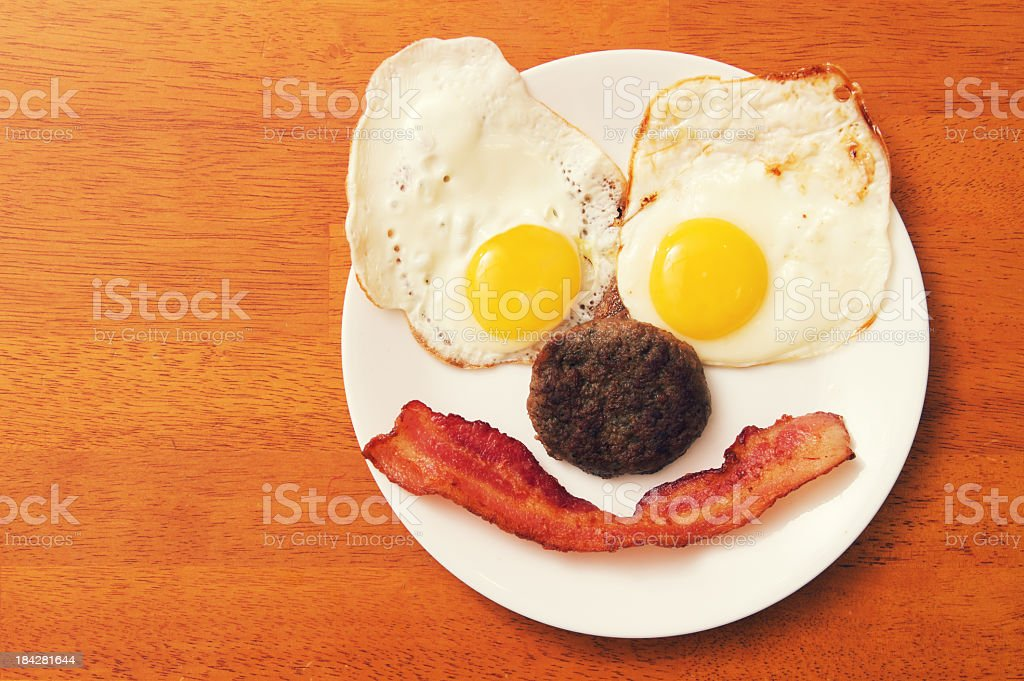Breakfast Food with a Smile stock photo