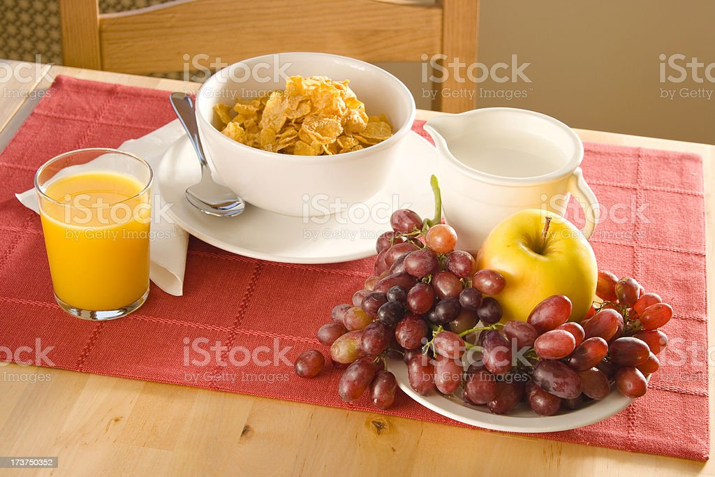 Breakfast for a healthy start royalty-free stock photo