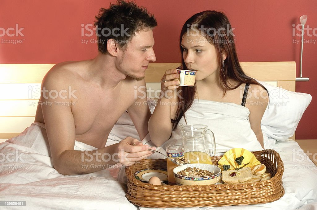 breakfast for two royalty-free stock photo