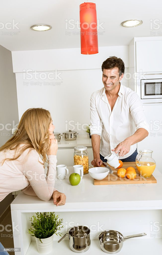 breakfast for two stock photo