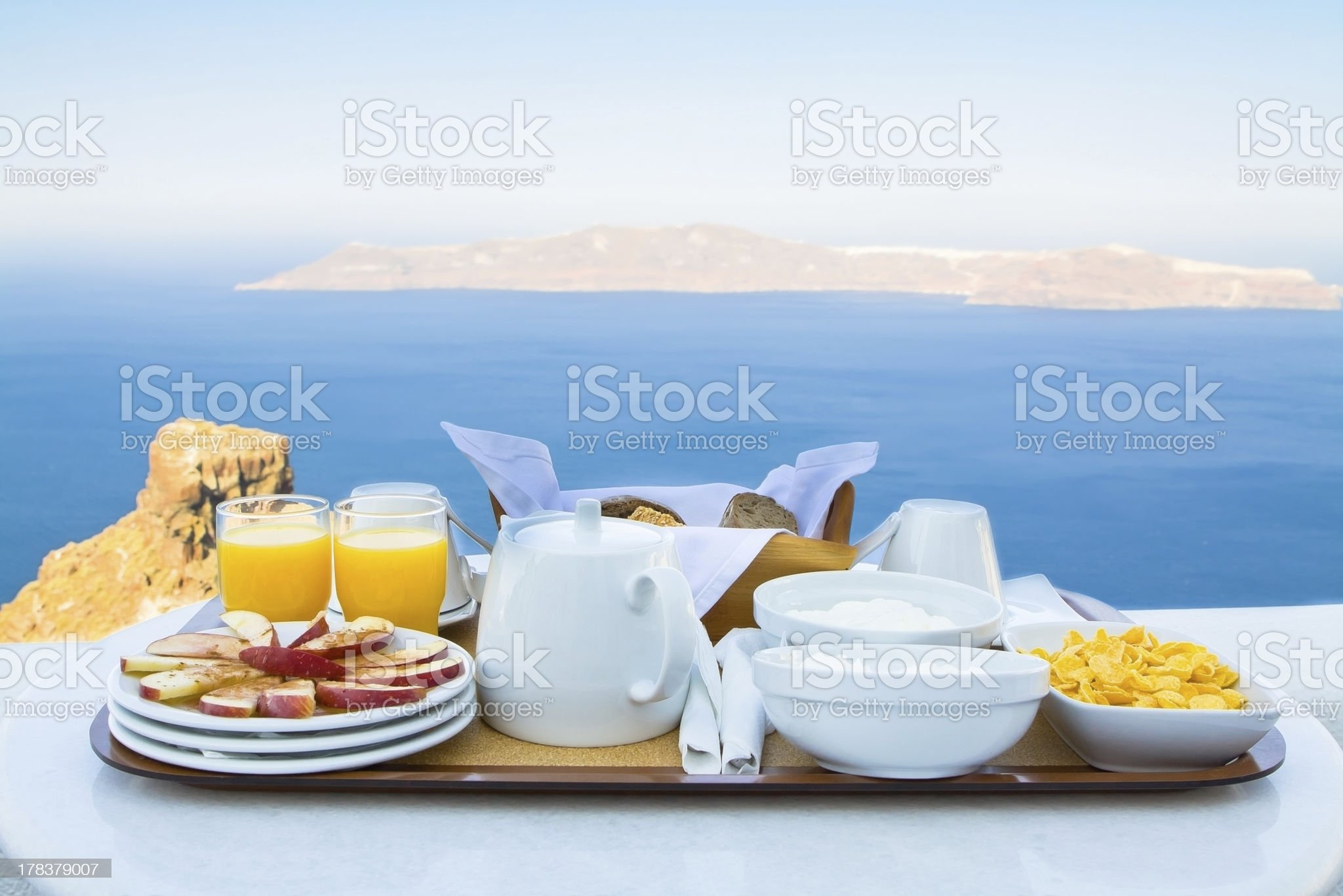 Breakfast for Two with a View royalty-free stock photo