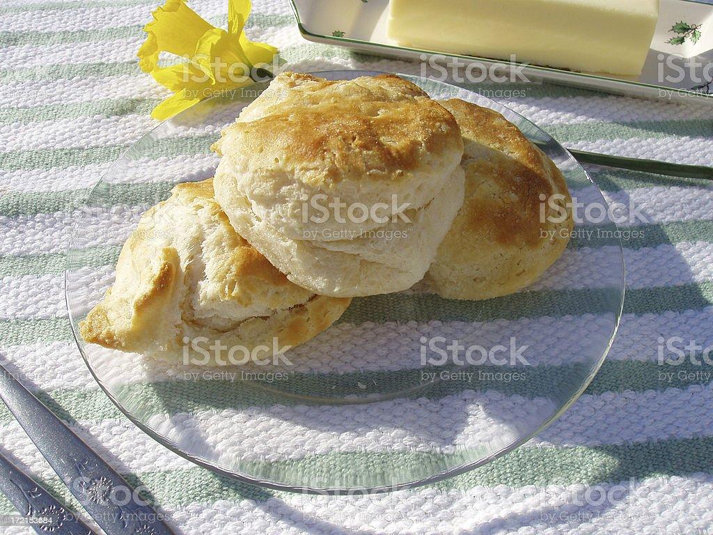 Breakfast - Golden Biscuits stock photo