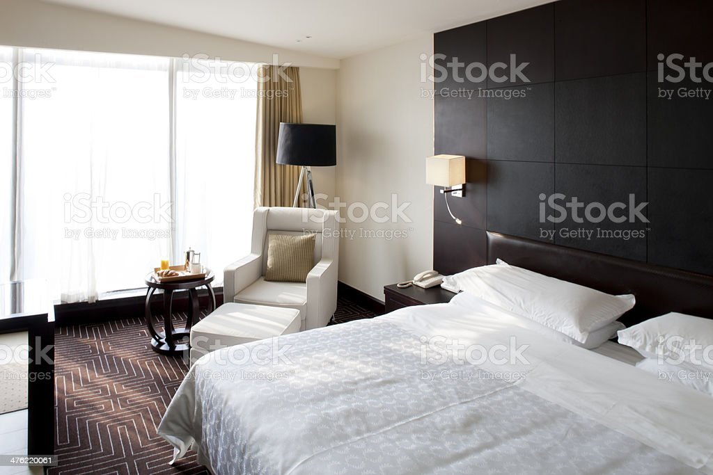 Breakfast in a hotel room royalty-free stock photo