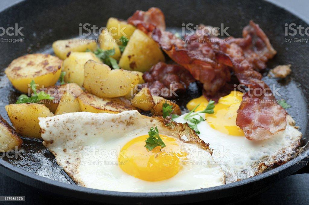 Breakfast In A Pan stock photo