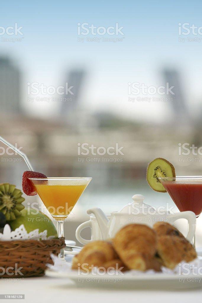 Breakfast in a terrace royalty-free stock photo