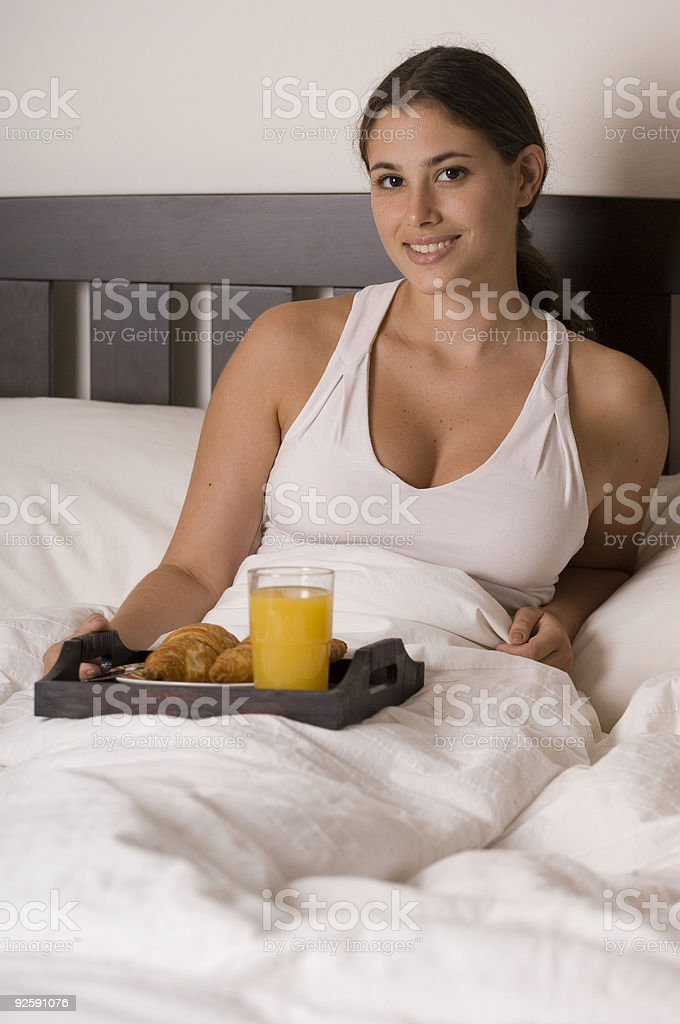 Breakfast In Bed 1 royalty-free stock photo