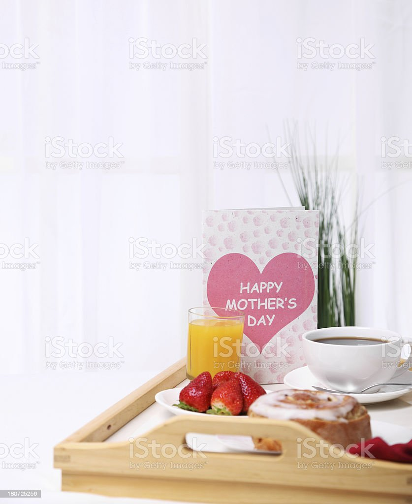Breakfast in Bed for Mom royalty-free stock photo