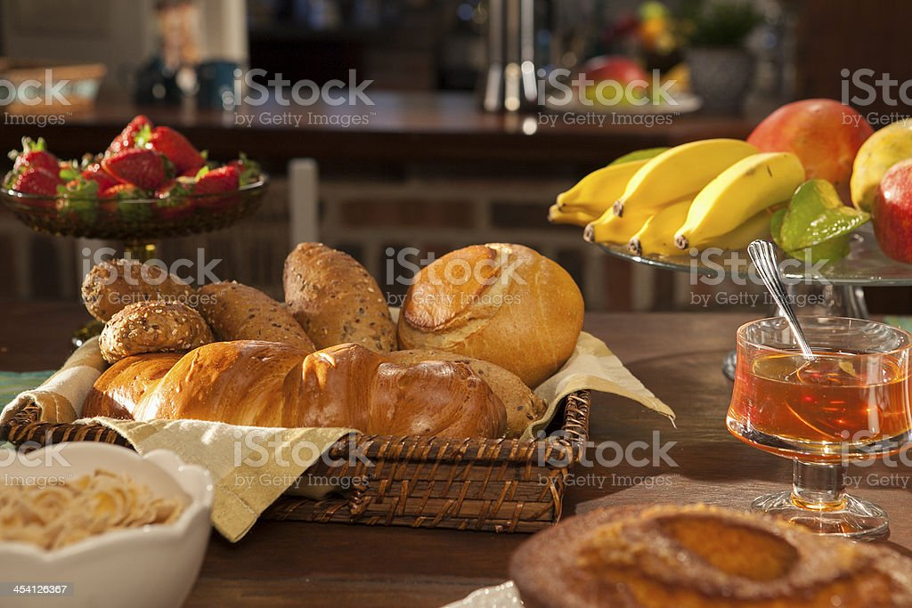 Breakfast in Kitchen stock photo