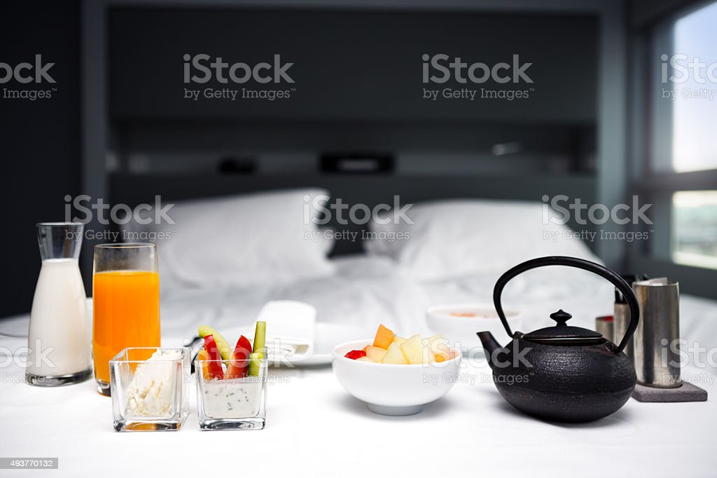 Breakfast In Room stock photo