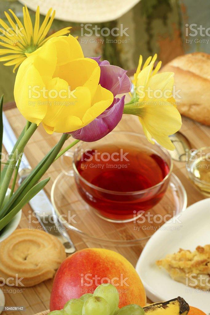 Breakfast in the garden. royalty-free stock photo