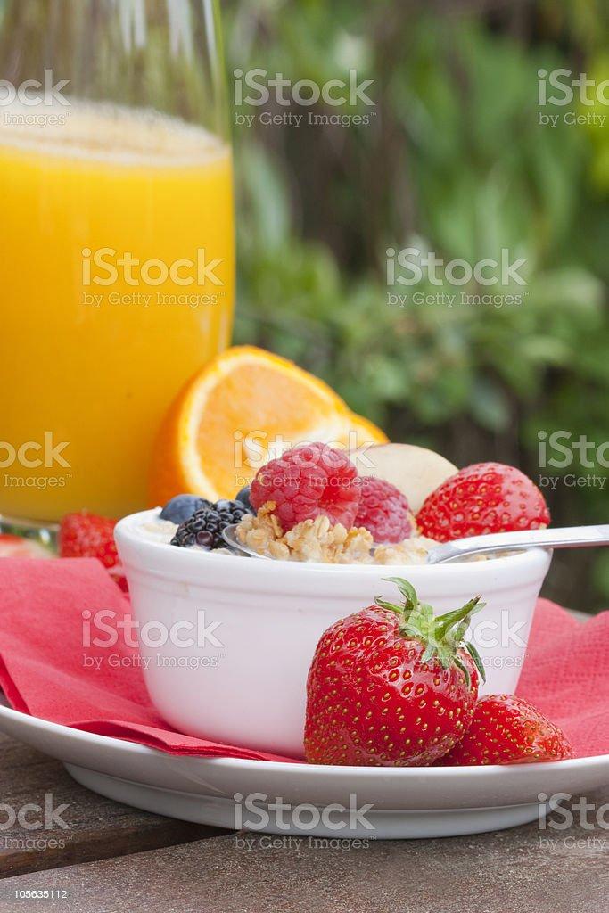 Frühstück im Garten Lizenzfreies stock-foto
