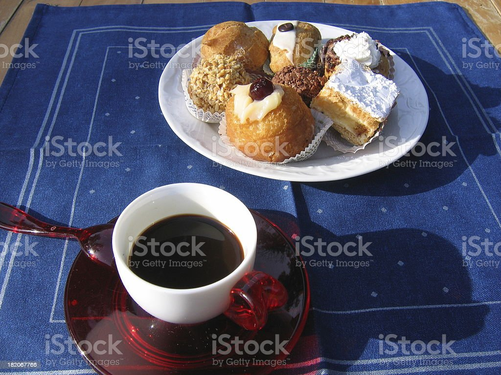 breakfast in the garden royalty-free stock photo