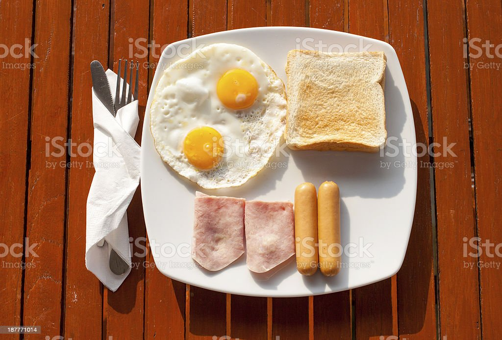 Breakfast in the morning light royalty-free stock photo