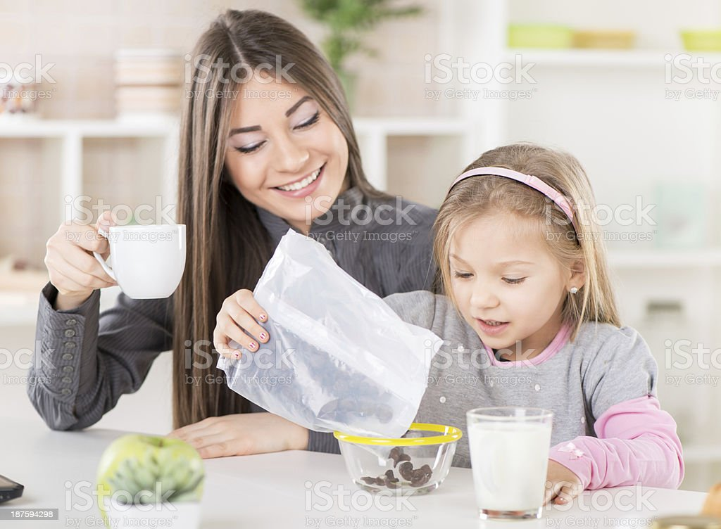Breakfast in the morning royalty-free stock photo