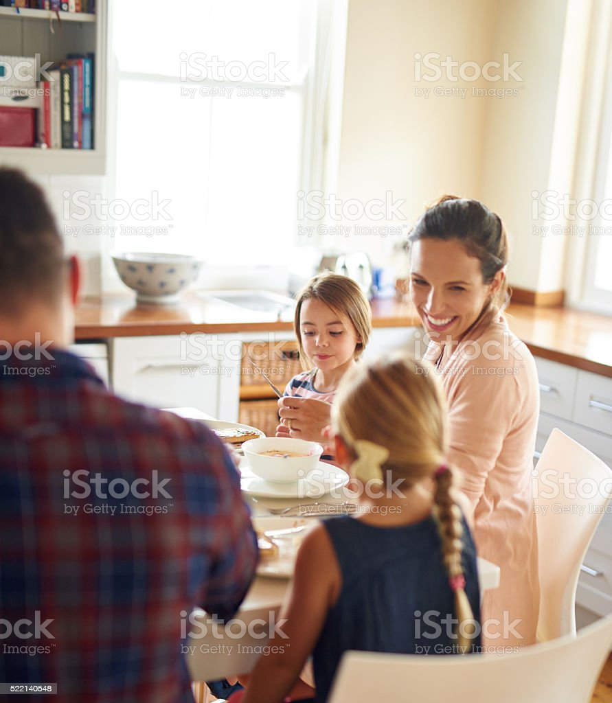 Breakfast is more than food, it's a time to connect stock photo