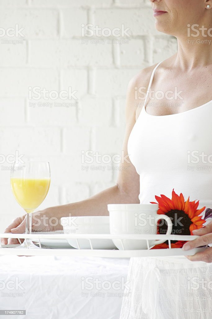 Breakfast is served stock photo