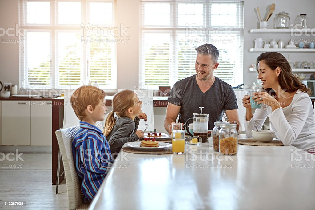 Breakfast is the most important meal of the day stock photo