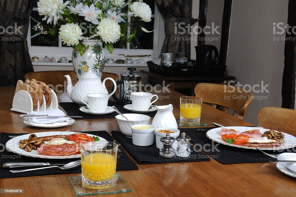 Breakfast layout. royalty-free stock photo