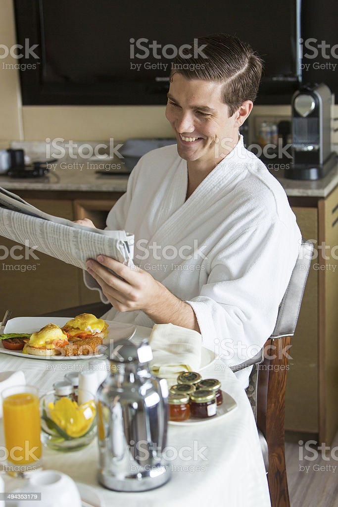 Breakfast Man royalty-free stock photo