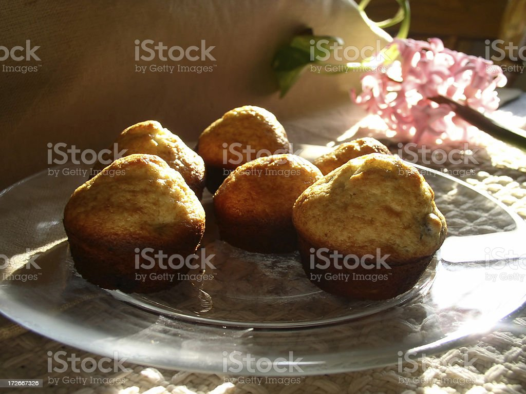 Breakfast muffins stock photo