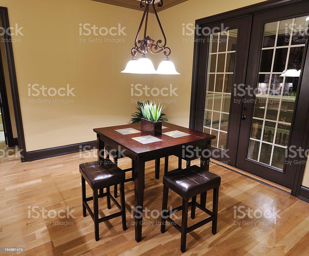 Breakfast Nook in Home Kitchen stock photo