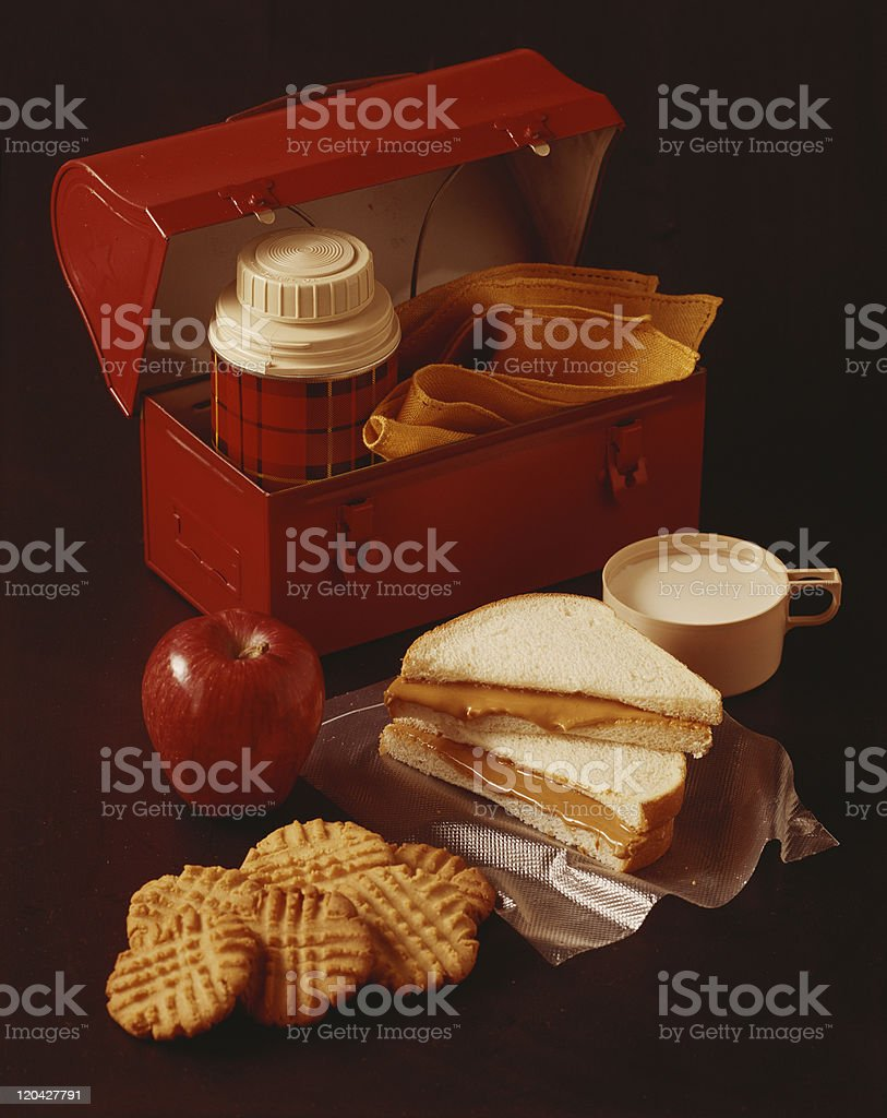 Breakfast of brown background, close-up stock photo