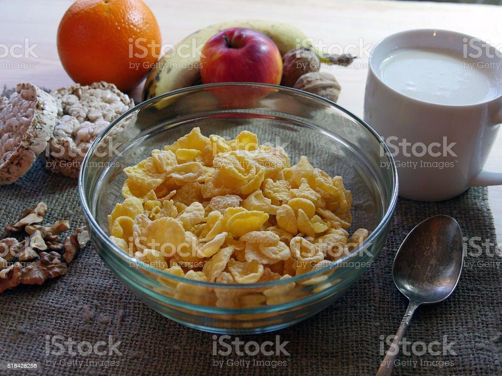 Mesa de desayuno foto de stock libre de derechos