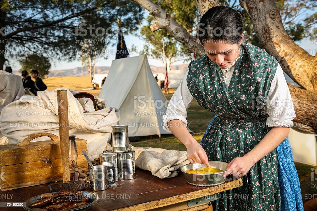 Breakfast on the Battlefield stock photo