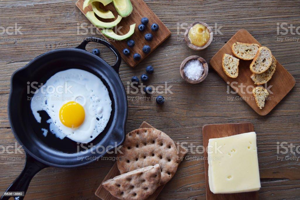 Breakfast or brunch stock photo