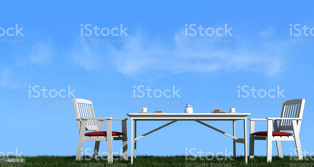 Breakfast outdoor royalty-free stock photo