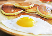 Breakfast Pancakes and Egg