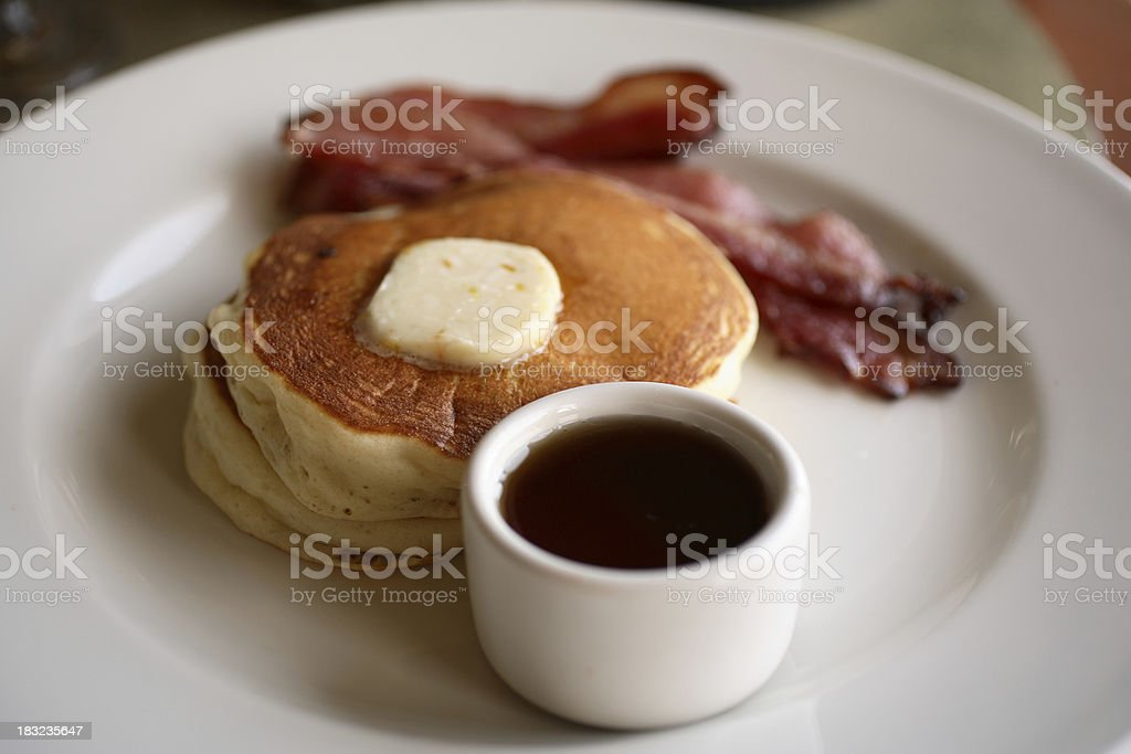 Breakfast: Pancakes stock photo