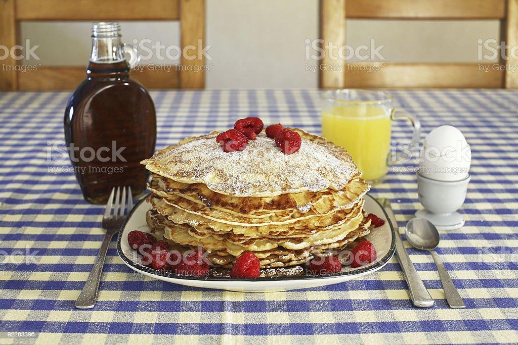 Breakfast pancakes royalty-free stock photo