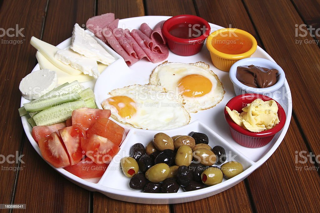 breakfast plate royalty-free stock photo