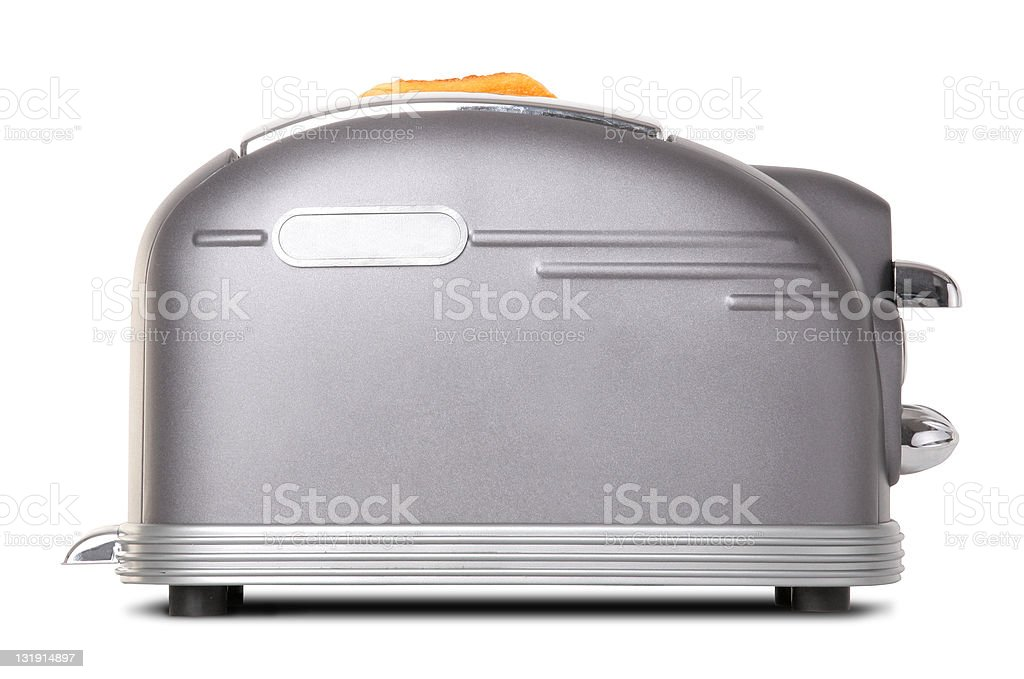 Breakfast retro toaster [with clipping path] royalty-free stock photo