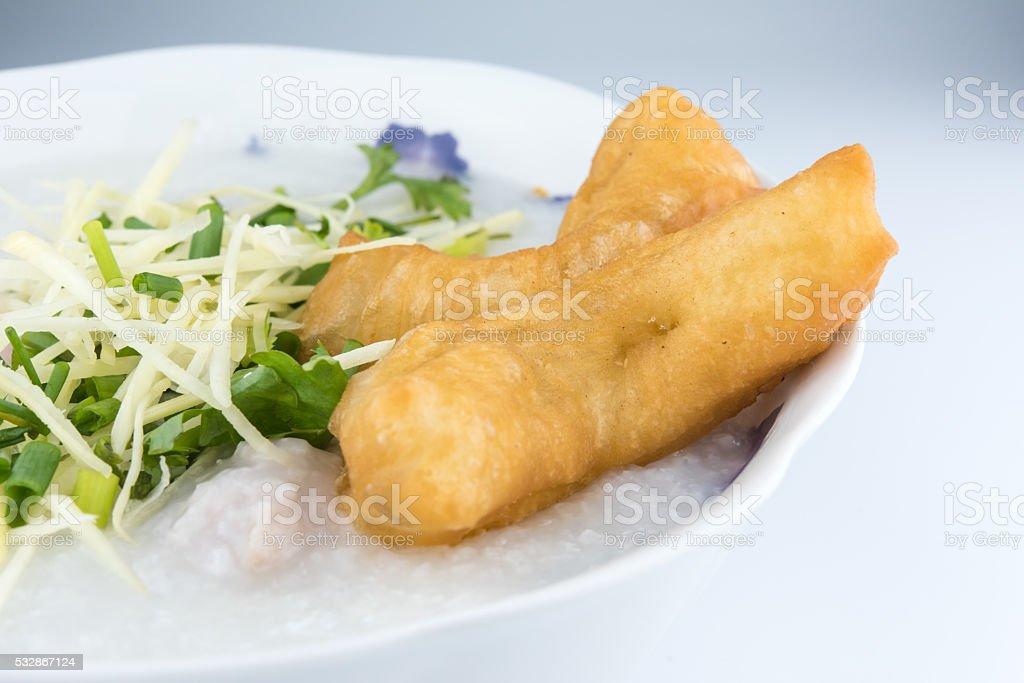 Breakfast, Rice porridge stock photo