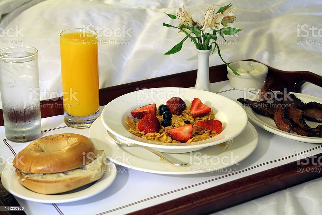 Breakfast Room Service stock photo
