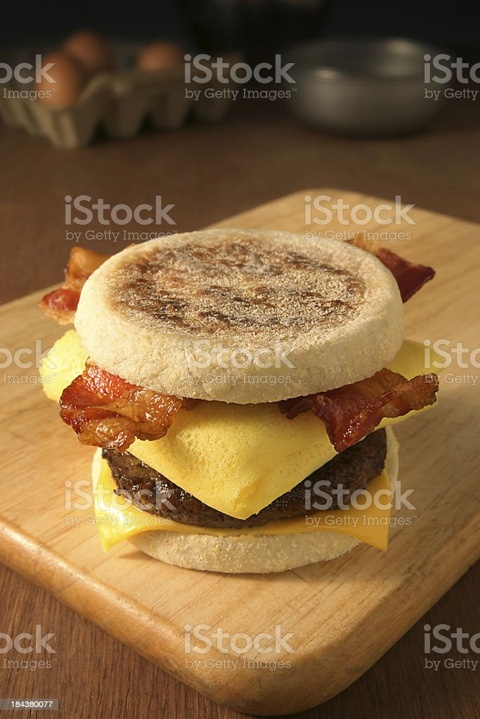 Breakfast Sandwich royalty-free stock photo