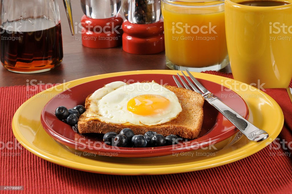 Breakfast sandwich royalty-free stock photo