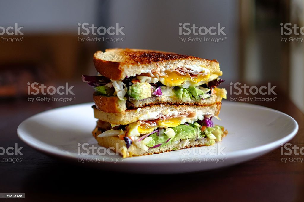 Breakfast Sandwich stock photo