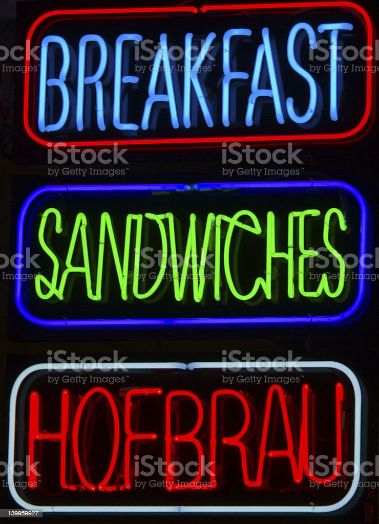 Breakfast, Sandwiches, Hofbrau royalty-free stock photo