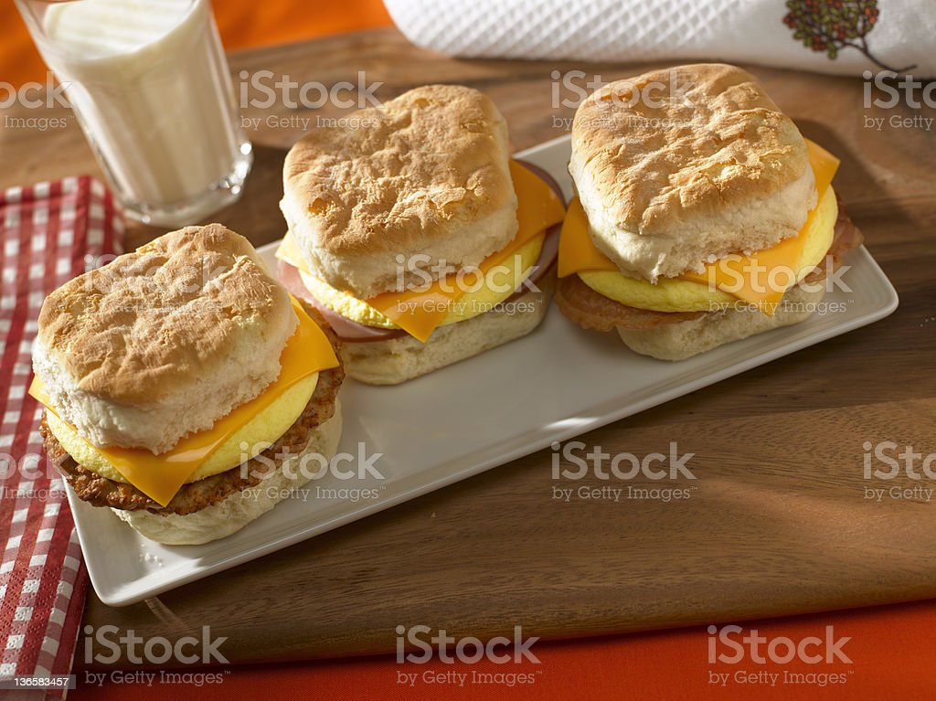 Breakfast Sandwiches royalty-free stock photo