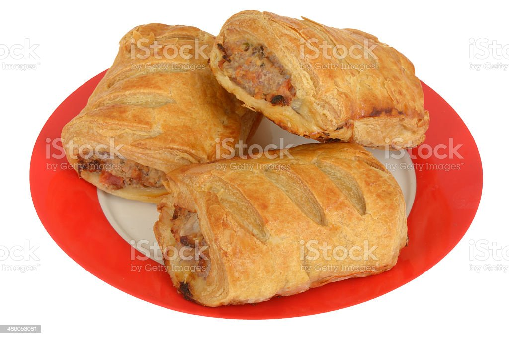 Breakfast Sausage Rolls stock photo