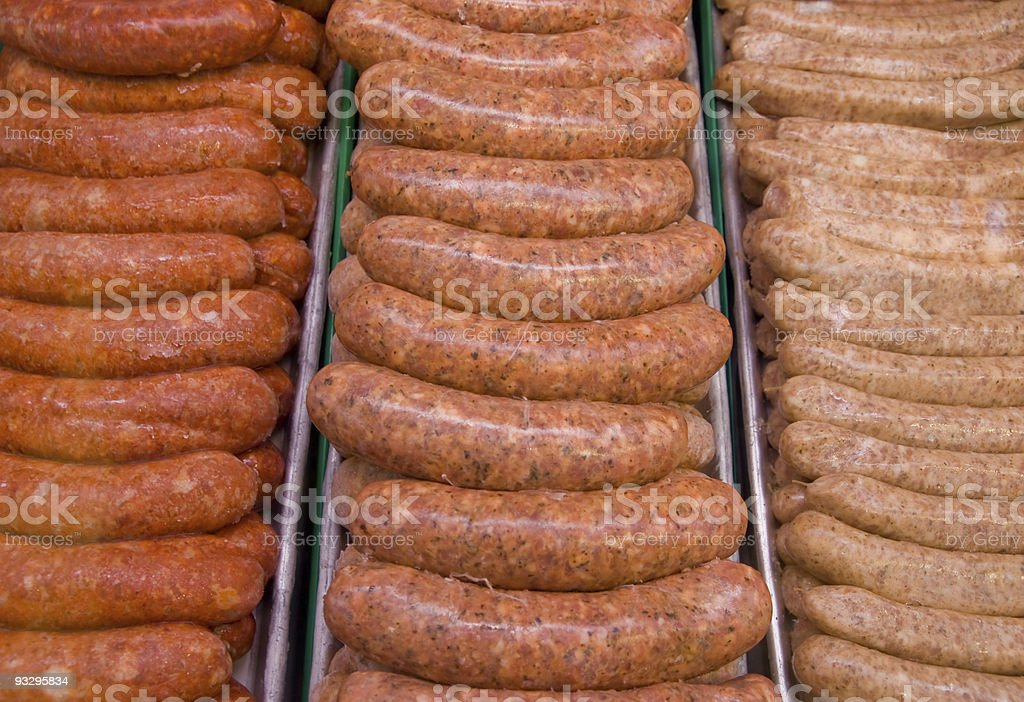 Breakfast sausages stock photo