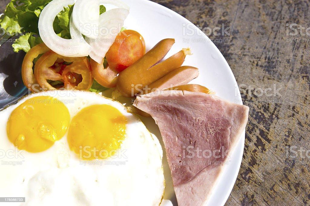 Breakfast sets royalty-free stock photo